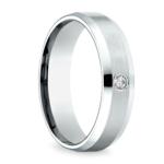 Inset Beveled Men's Wedding Ring in White Gold (6mm) | Thumbnail 02