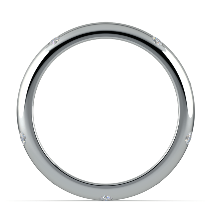 Inset Diamond Men's Band in Platinum (5mm) | 03