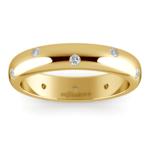 Inset Diamond Men's Band in Yellow Gold (5mm) | Thumbnail 02