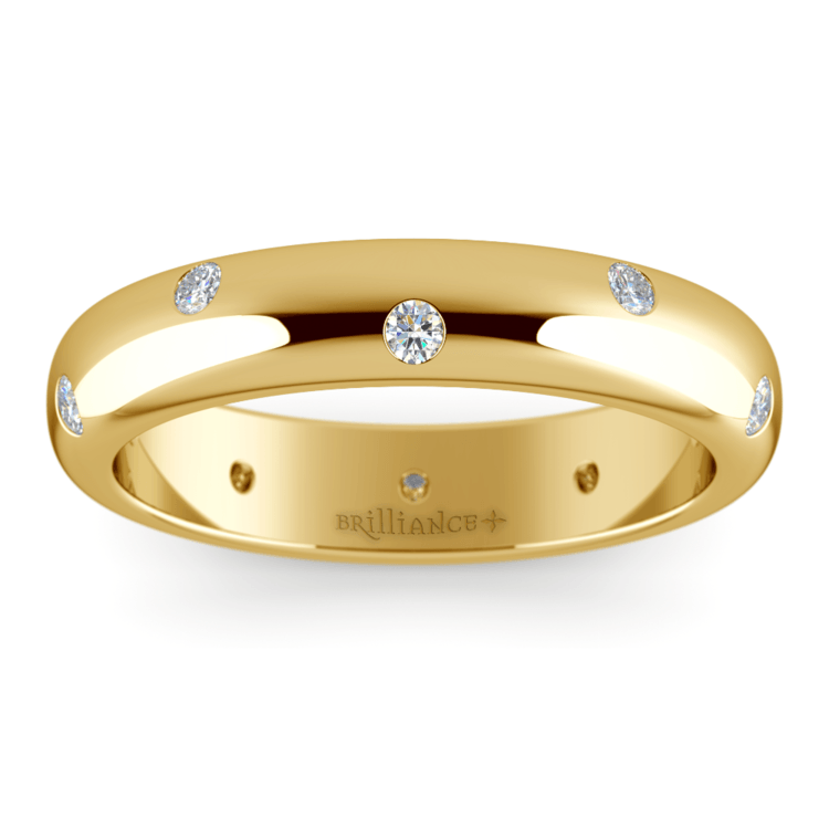Inset Diamond Men's Band in Yellow Gold (5mm) | 02