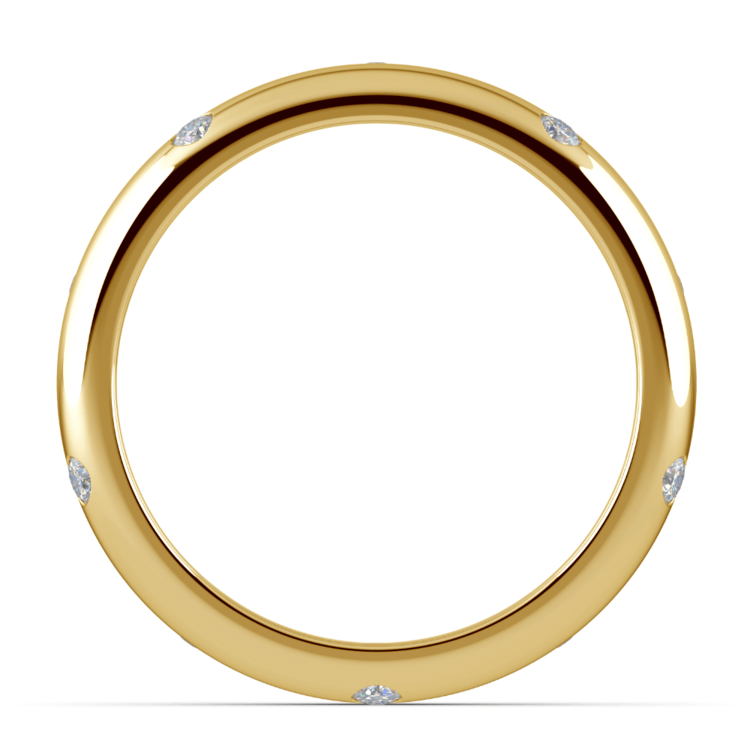 Inset Diamond Men's Band in Yellow Gold (5mm) | 03