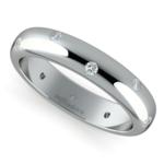 Inset Diamond Wedding Ring in Palladium (4mm) | Thumbnail 01
