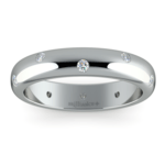Inset Diamond Wedding Ring in Palladium (4mm) | Thumbnail 02