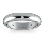 Inset Diamond Wedding Ring in Palladium (4mm) | Thumbnail 02