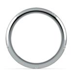 Inset Diamond Wedding Ring in Palladium (4mm) | Thumbnail 03
