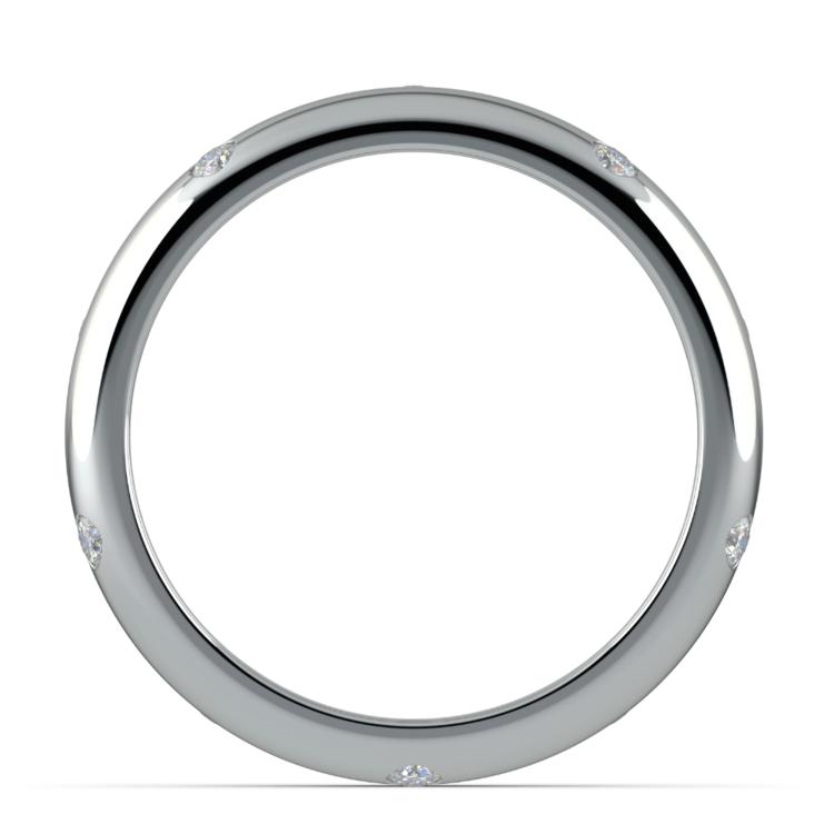 Inset Diamond Wedding Ring in Palladium (4mm) | 03