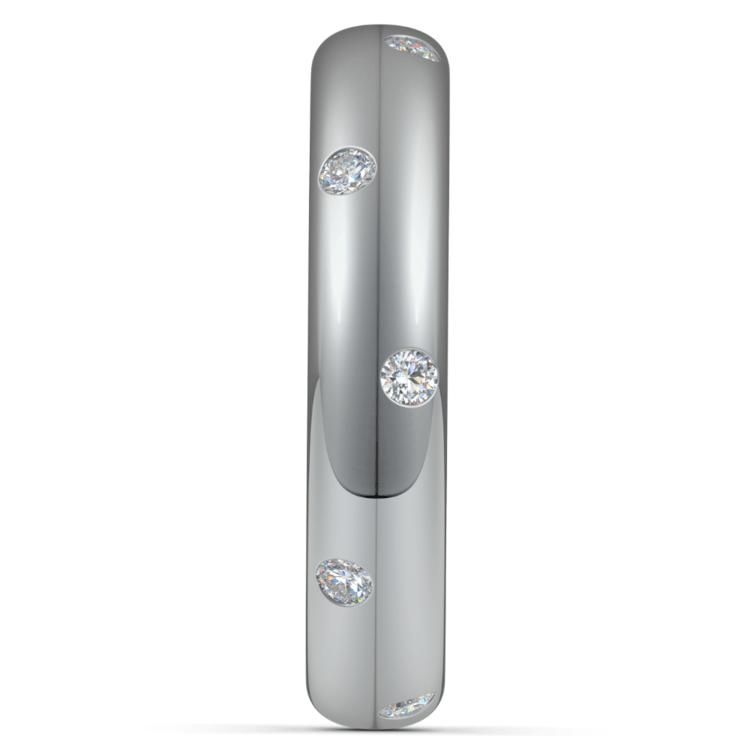 Inset Diamond Wedding Ring in Palladium (4mm) | 04