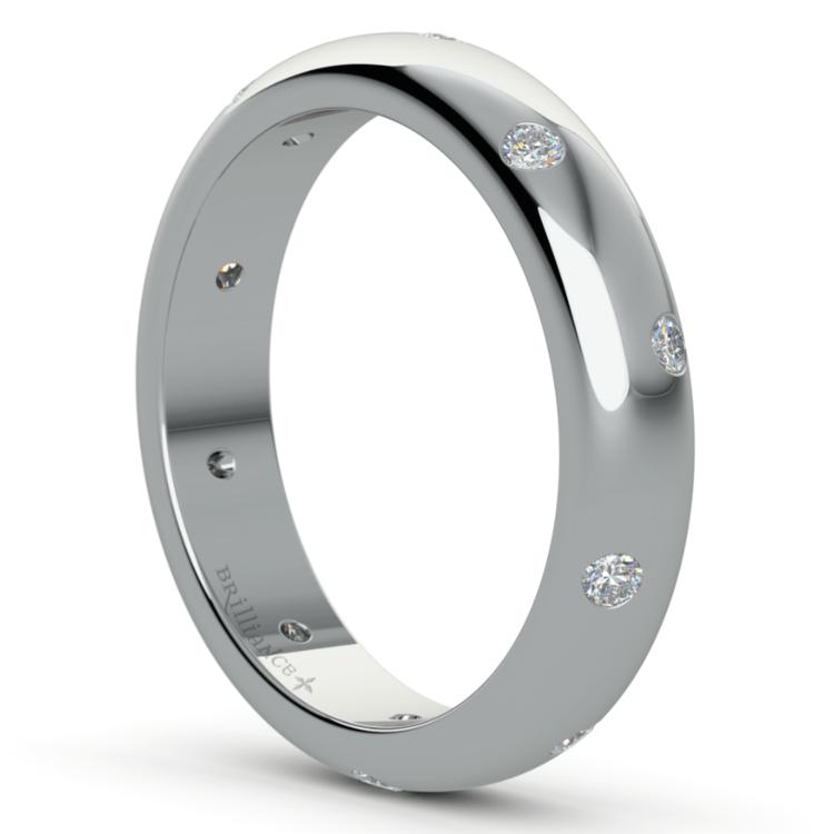 Inset Diamond Wedding Ring in Platinum (4mm) | 05