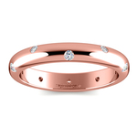 Inset Diamond Wedding Ring in Rose Gold (3mm) | Thumbnail 02