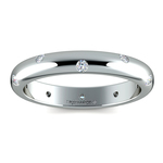 Inset Diamond Wedding Ring in White Gold (3mm) | Thumbnail 02