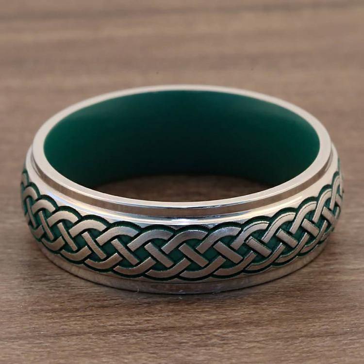 Ivory Coast - Sailor's Knot & Green Cerakote Mens Band | 05