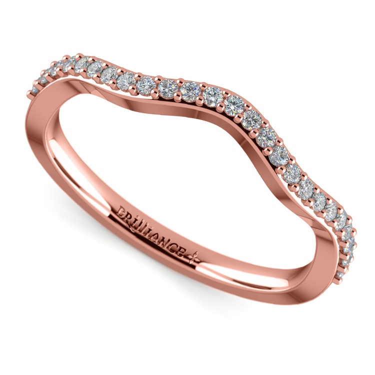 Ivy Diamond Wedding Ring in Rose Gold | Zoom