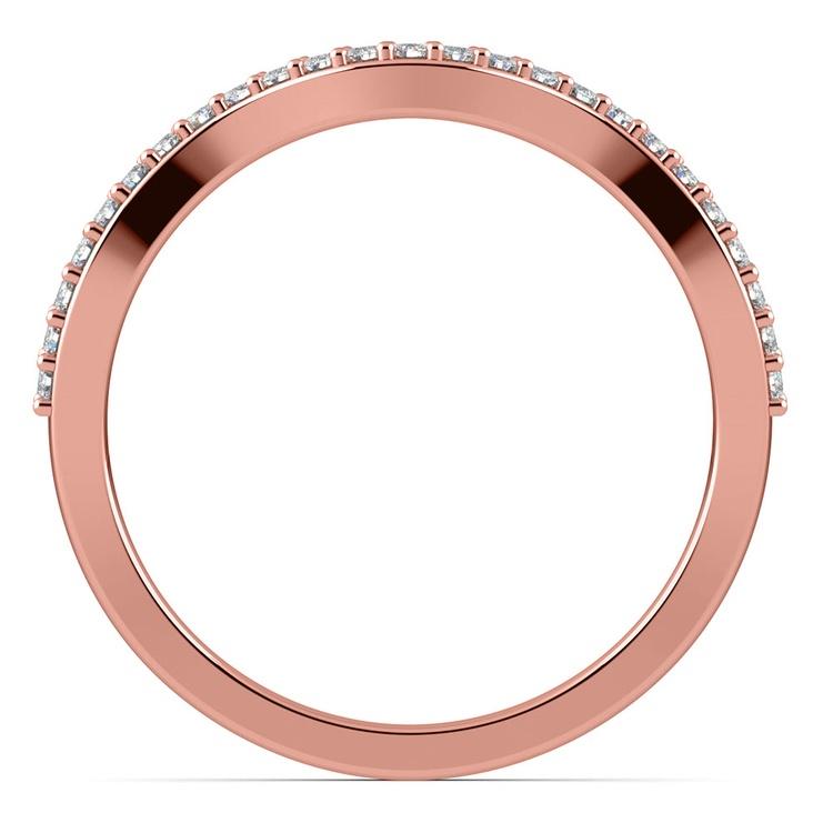 Ivy Diamond Wedding Ring in Rose Gold | 03