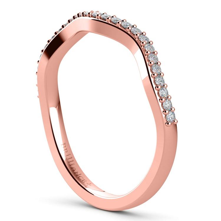 Ivy Diamond Wedding Ring in Rose Gold | 04