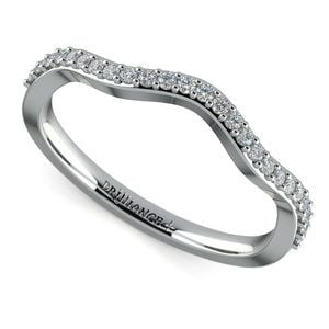 Ivy Diamond Wedding Ring in White Gold