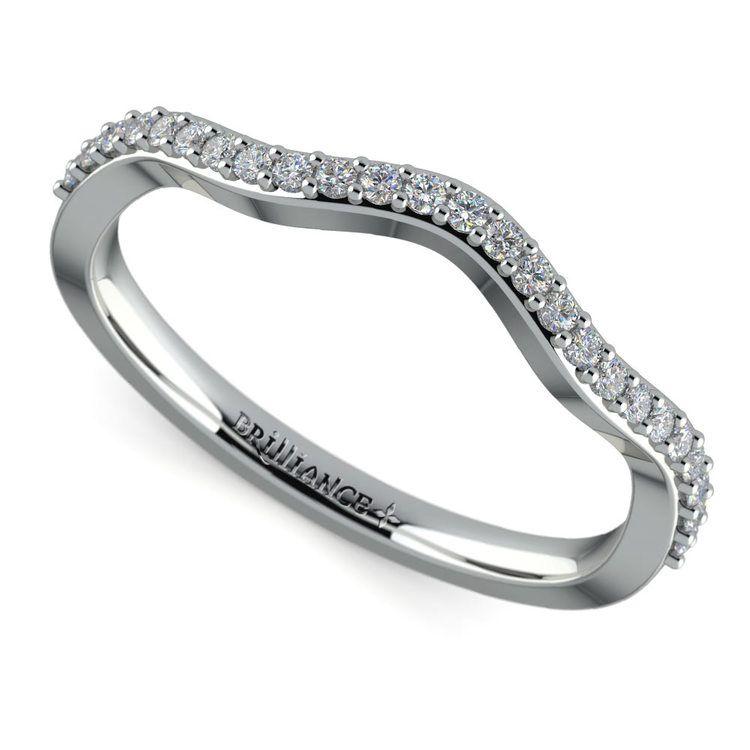 Ivy Diamond Wedding Ring in White Gold | 01