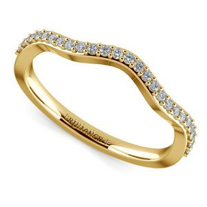 Ivy Diamond Wedding Ring in Yellow Gold