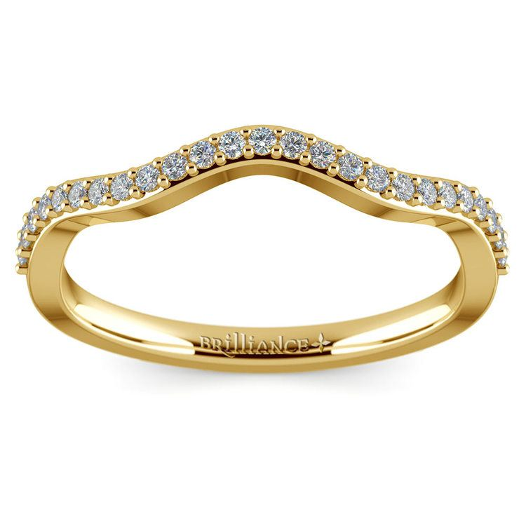 Ivy Diamond Wedding Ring in Yellow Gold   02
