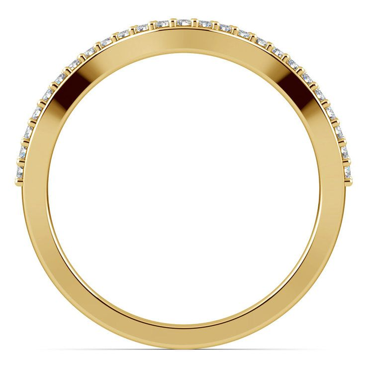 Ivy Diamond Wedding Ring in Yellow Gold   03