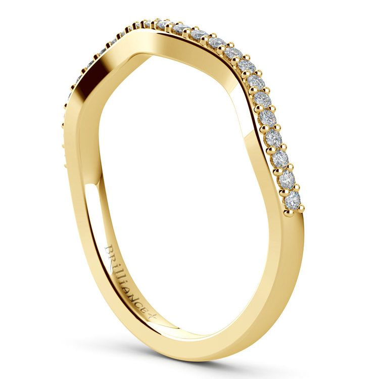 Ivy Diamond Wedding Ring in Yellow Gold | 04