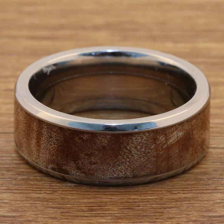 Jupiter - Titanium & Wood Mens Wedding Band | 05