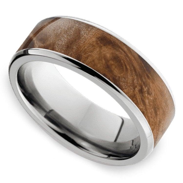 Jupiter - Titanium & Wood Mens Wedding Band | 01