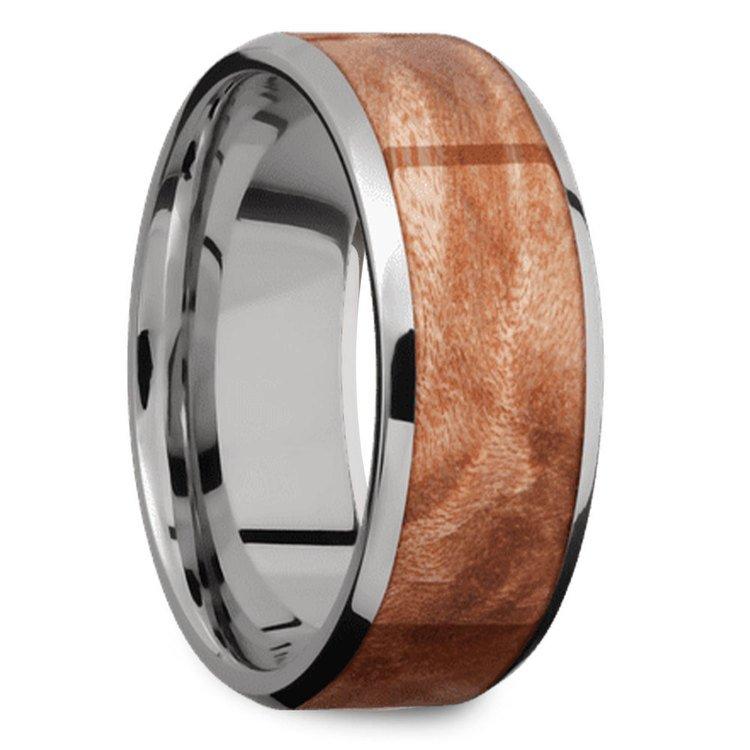 Jupiter - Titanium & Wood Mens Wedding Band | 02