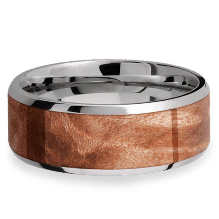 Jupiter - Titanium & Wood Mens Wedding Band | 03