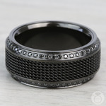 Kingpin - Black Titanium with Steel Chainmail Inlay | Thumbnail 04