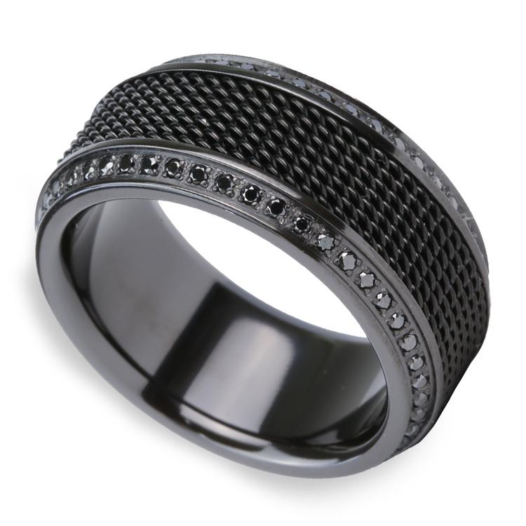Kingpin - Black Titanium with Steel Chainmail Inlay | 01