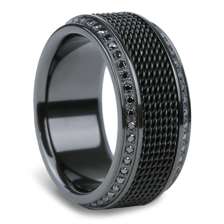 Kingpin - Black Titanium with Steel Chainmail Inlay | 02