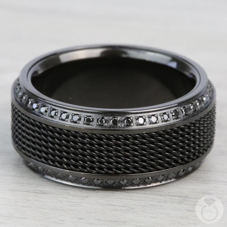 Kingpin - Black Titanium with Steel Chainmail Inlay | 04