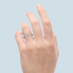 Knife Edge Diamond Wedding Ring in Platinum (1/2 ctw) | Thumbnail 06