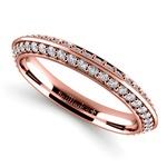 Knife Edge Diamond Wedding Ring in Rose Gold (1/2 ctw) | Thumbnail 01