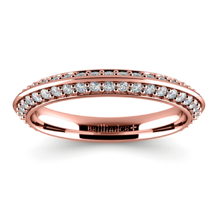 Knife Edge Diamond Wedding Ring in Rose Gold (1/2 ctw) | 02