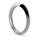 Knife Edge Wedding Ring in Palladium | Thumbnail 04