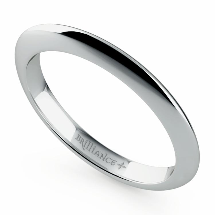 Knife Edge Wedding Ring in Palladium | 01