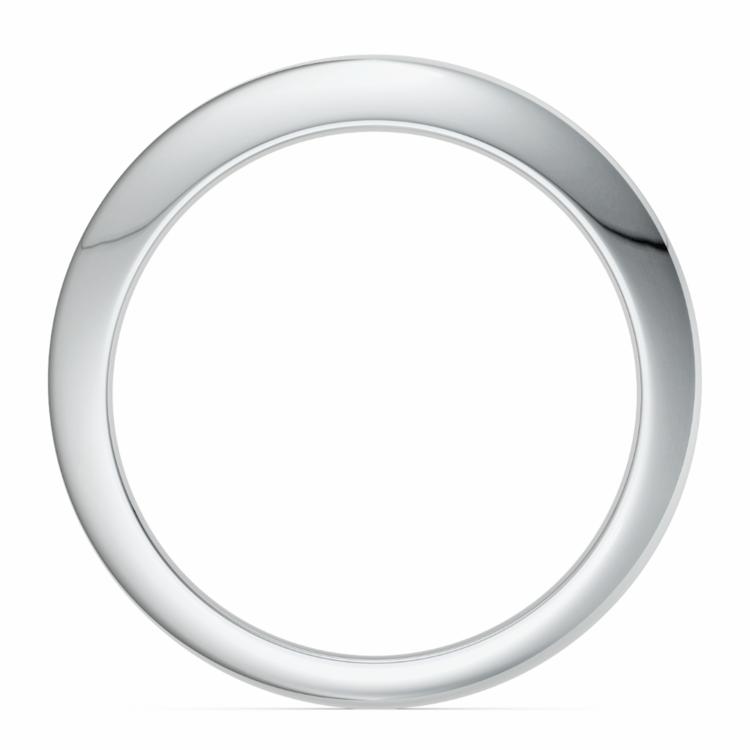 Knife Edge Wedding Ring in Palladium | 03