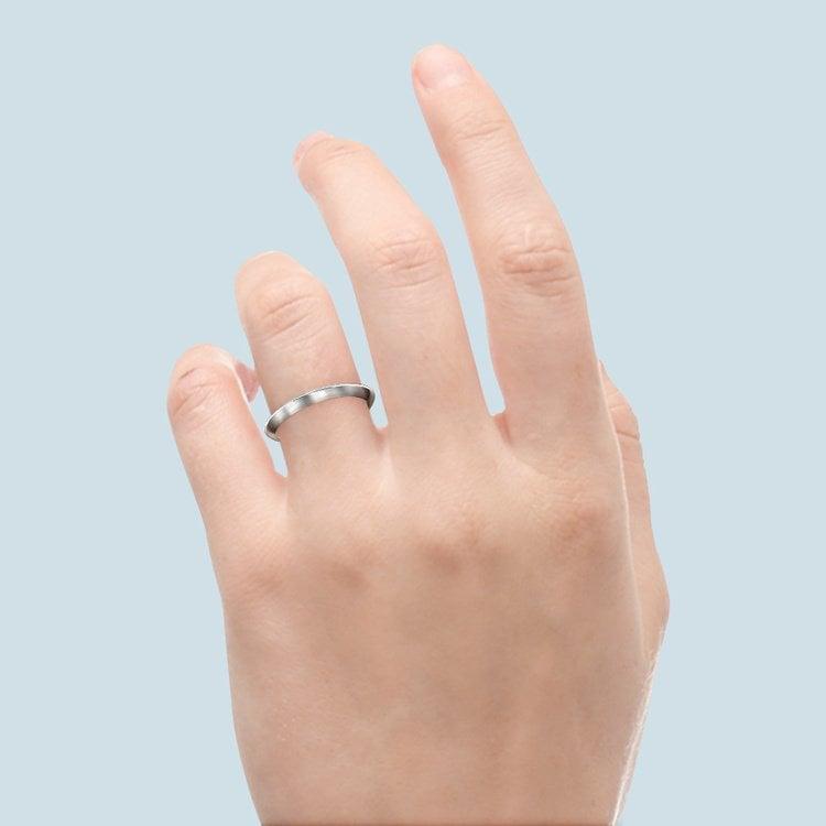 Knife Edge Wedding Ring in Platinum | 06