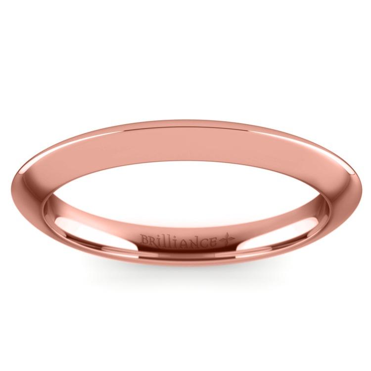 Knife Edge Wedding Ring in Rose Gold | 02