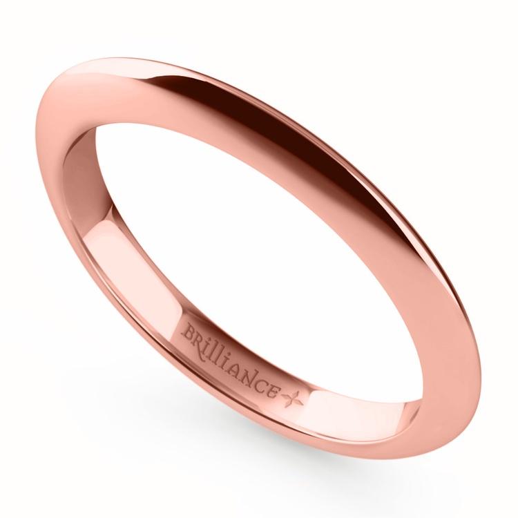 Knife Edge Wedding Ring in Rose Gold | 01