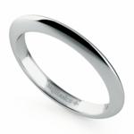 Knife Edge Wedding Ring in White Gold | Thumbnail 01