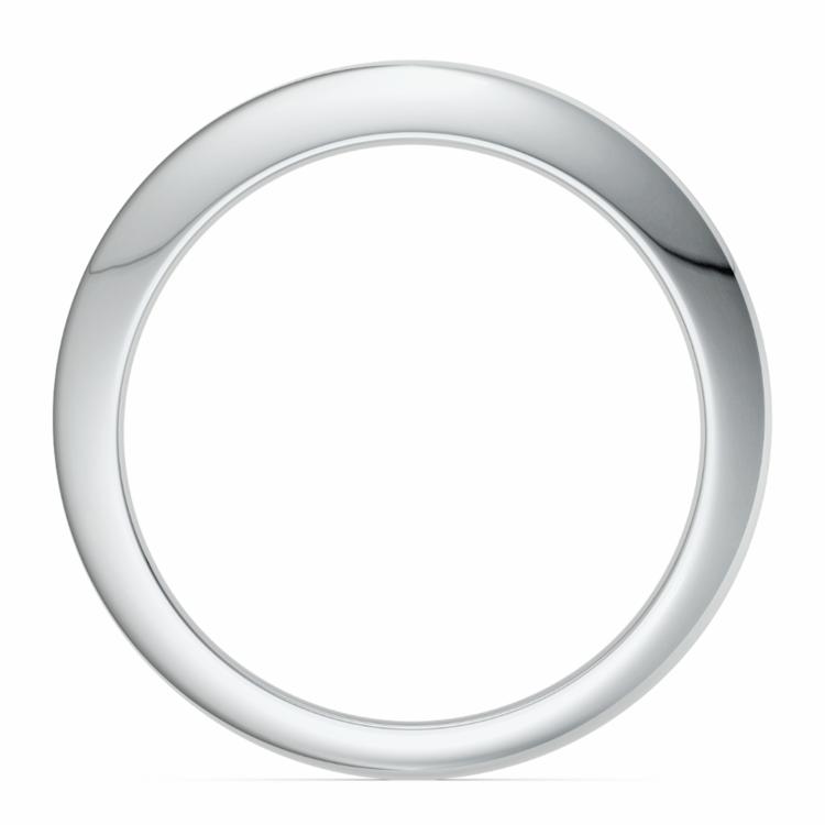 Knife Edge Wedding Ring in White Gold | 03