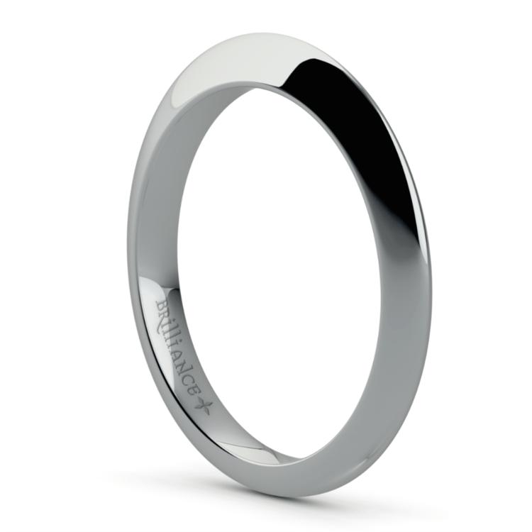 Knife Edge Wedding Ring in White Gold | 04