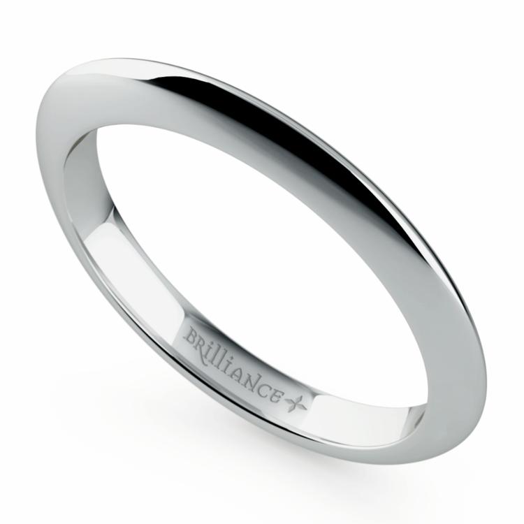 Knife Edge Wedding Ring in White Gold | 01