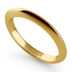 Knife Edge Wedding Ring in Yellow Gold | Thumbnail 01