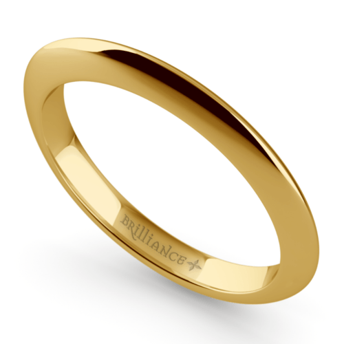 knife edge wedding ring in yellow gold - Yellow Gold Wedding Rings