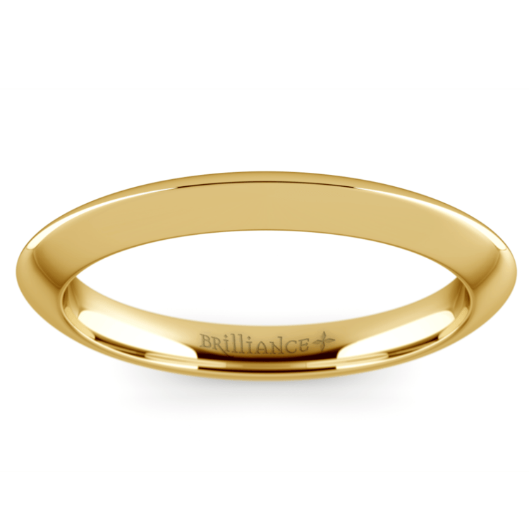 Knife Edge Wedding Ring in Yellow Gold | 02
