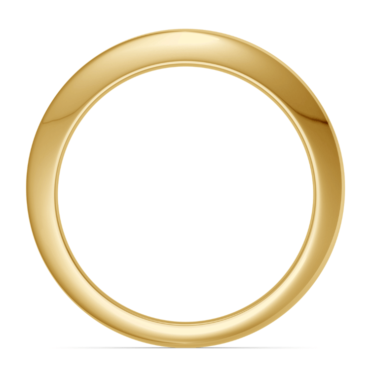Knife Edge Wedding Ring in Yellow Gold | 03