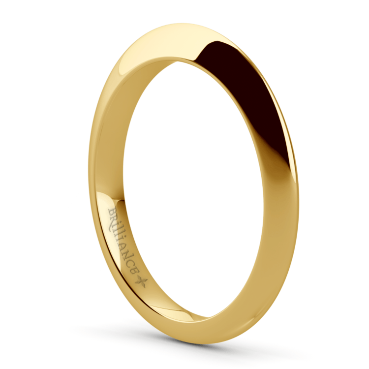 Knife Edge Wedding Ring in Yellow Gold | 04